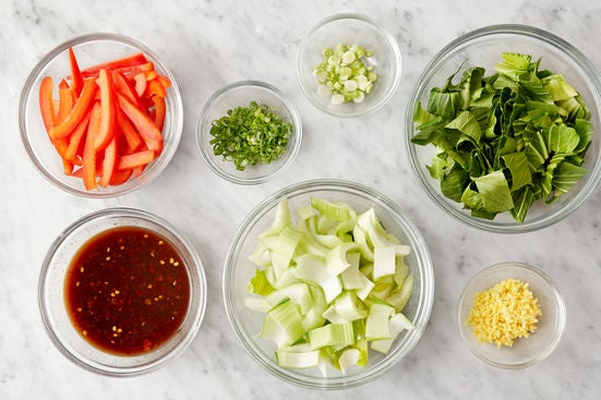 Prepare the remaining ingredients & make the sauce: