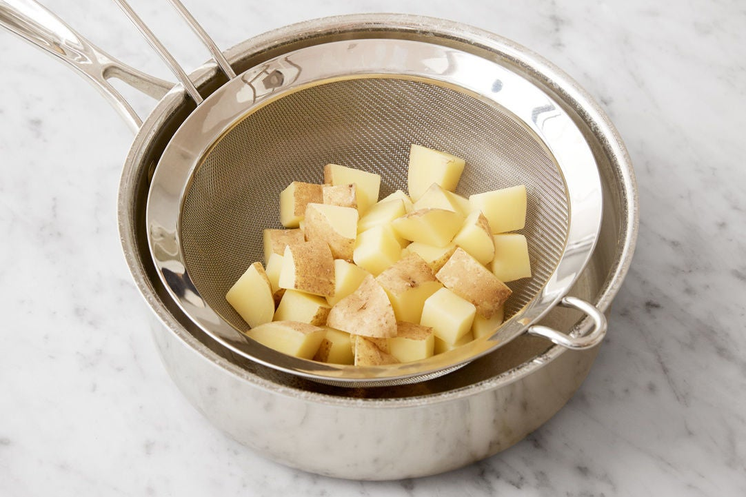 Prepare & cook the potato: