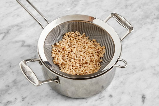 Cook the barley