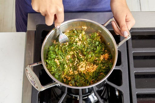 Make the kale rice