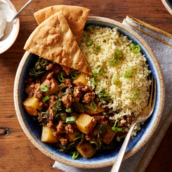 Spiced Lamb & Beef Tagine with Couscous & Pita Chips