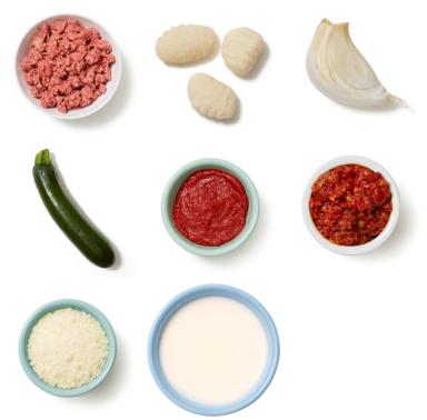 Zesty Beef & Gnocchi with Zucchini & Romano Cheese