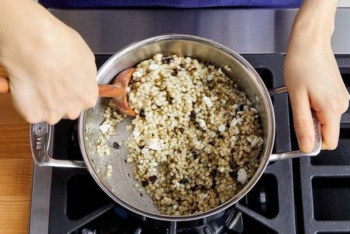 Dress the couscous & serve your dish