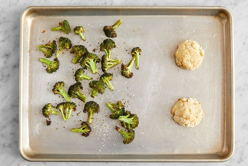Bake the biscuits & broccoli