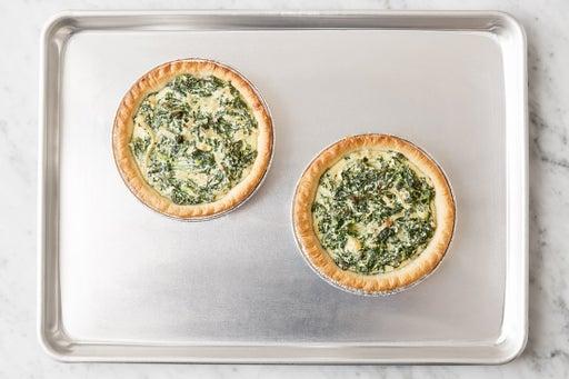 Assemble & bake the tarts: