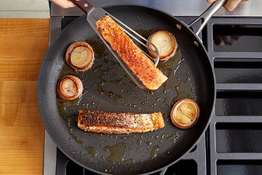 Cook the fish & onion