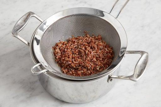 Cook the quinoa