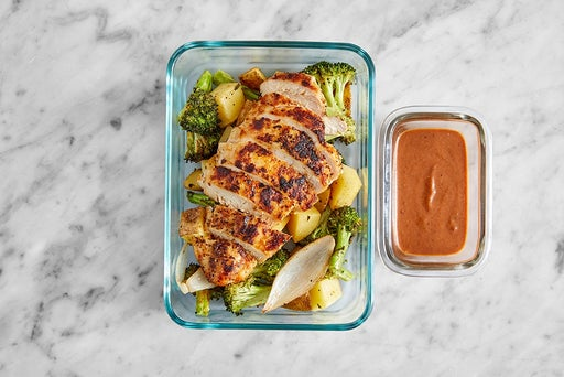 Assemble & Store the Southern-Spiced Chicken