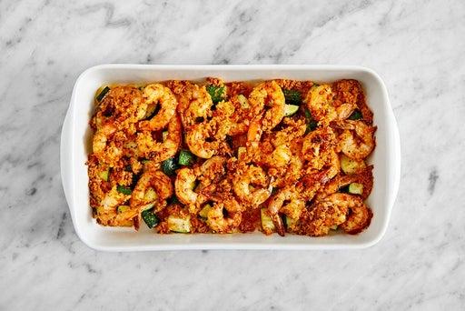 Bake the shrimp & zucchini