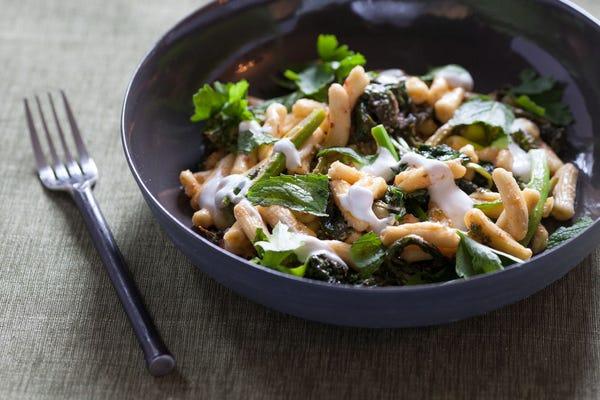 Broccoli Rabe & Cavatelli Pasta    with Harissa & Yogurt