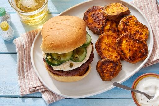 Indian-Style Beyond Burger™ with Creamy Mango Chutney & Spicy Cucumber