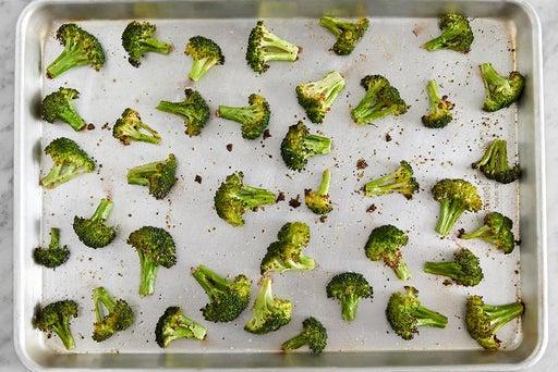 Roast & dress the broccoli