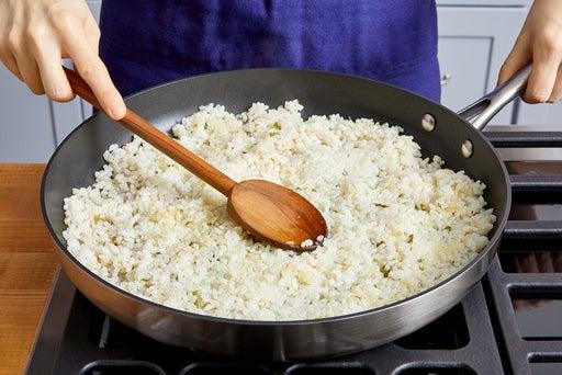 Crisp the rice & serve your dish