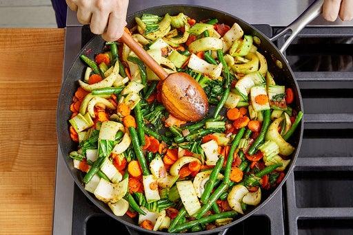 Make the togarashi vegetables