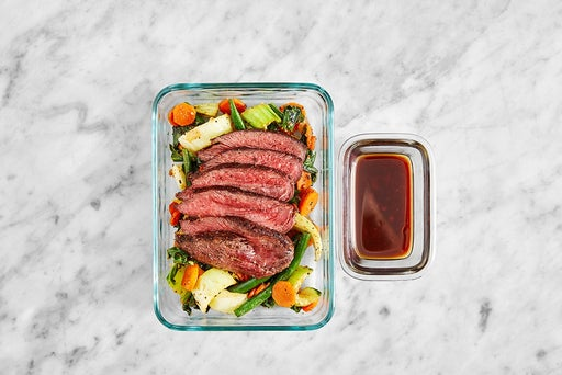 Assemble & Store the Japanese-Style Steak