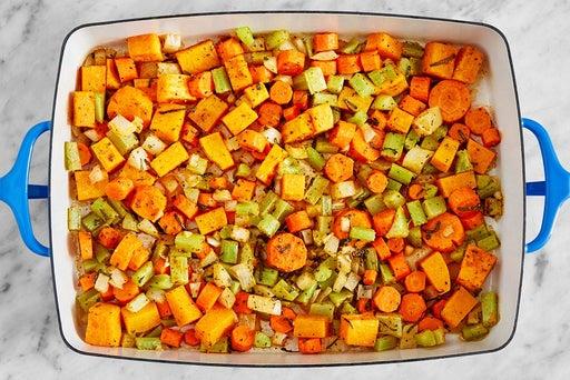 Prepare & start the vegetables