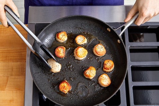 Cook the scallops & serve your dish