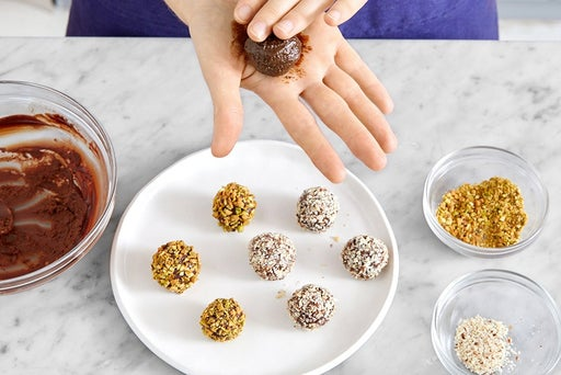 Make the chocolate truffles