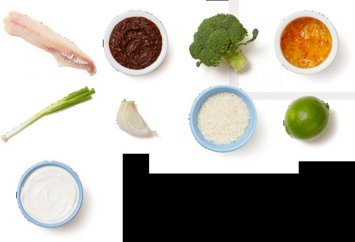 One-Pan Spicy Wild Alaskan Pollock with Broccoli & Jasmine Rice