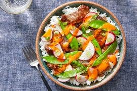 Korean-Style Beef & Spicy Mayo with Jasmine Rice & Snow Peas