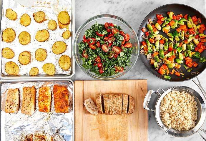 Carb Conscious with Roasted Salmon & Turkey Meatloaf