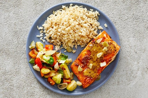 Finish & Serve the Southern-Spiced Salmon