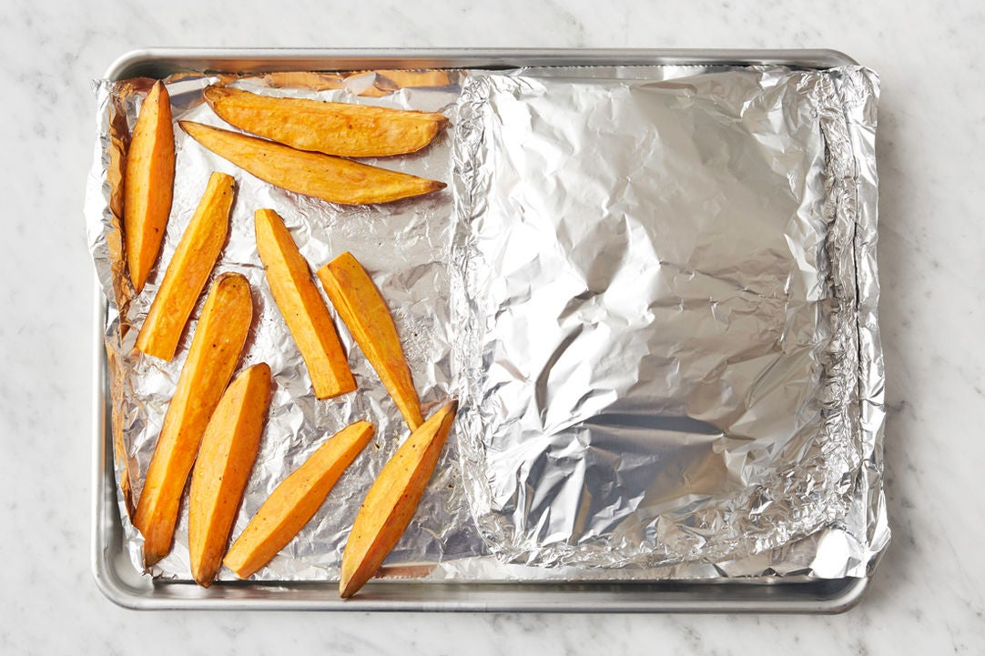 Bake the vegetables: