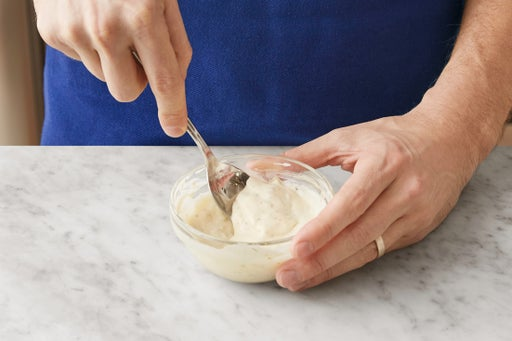 Make the tartar sauce: