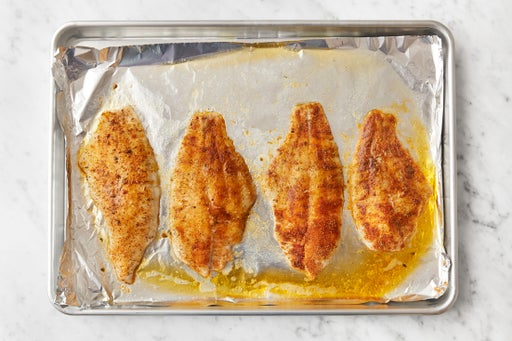 Prepare & bake the fish: