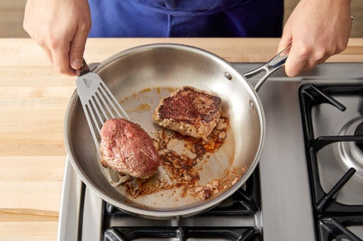 Cook the steaks
