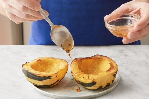 Finish the squash & serve your dish: