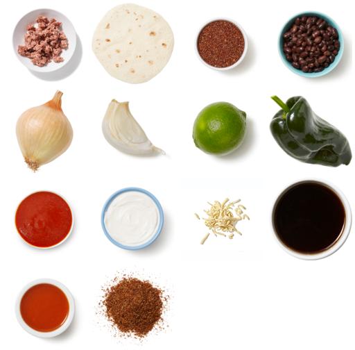 Beyond Beef™ & Quinoa Enchiladas with Black Beans & Monterey Jack Cheese