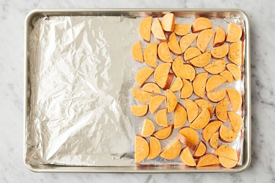 Season the sweet potato: