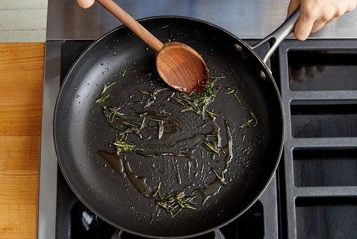 Fry the rosemary