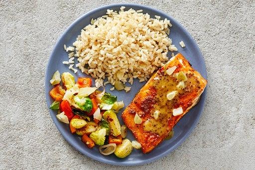 Finish & Serve the Southern-Spiced Salmon