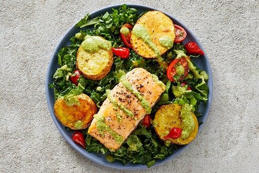 Finish & Serve the Roasted Salmon & Potatoes