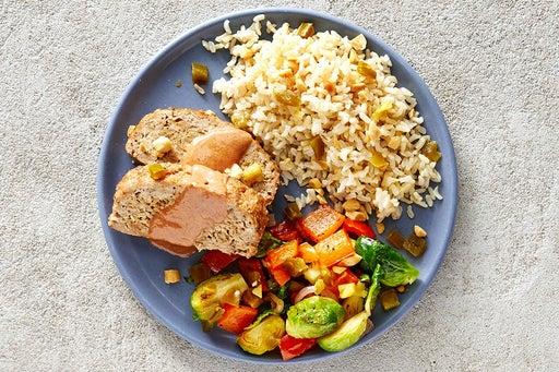 Finish & Serve the Turkey Meatloaf & BBQ Mayo
