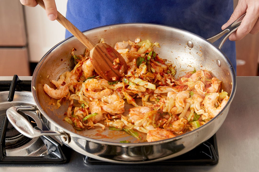 Add the shrimp: