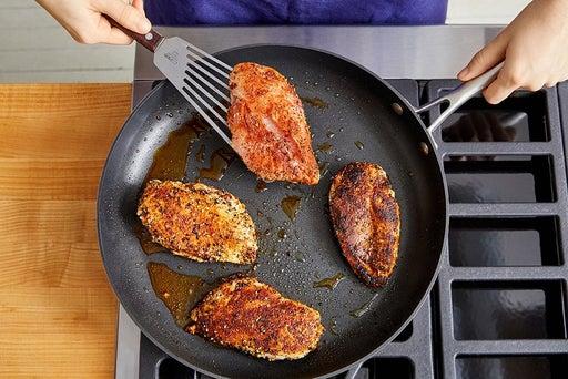Cook & slice the chicken