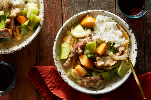 Thai Yellow Curry Beef with Bok Choy & Jasmine Rice