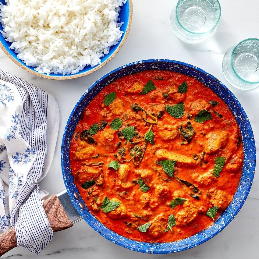 Chicken Tikka Masala with Rice & Spinach