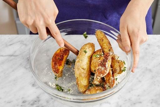 Roast & dress the potatoes
