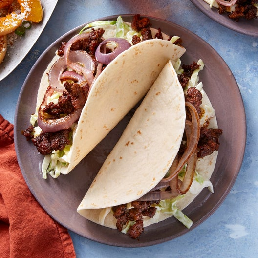 Spiced Pork Tacos with Cabbage Slaw & Roasted Butternut Squash