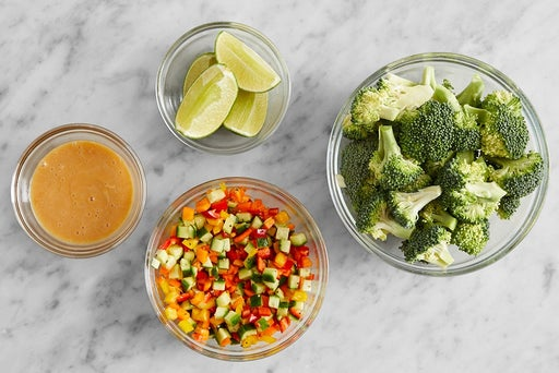 Prepare the ingredients & marinate the vegetables