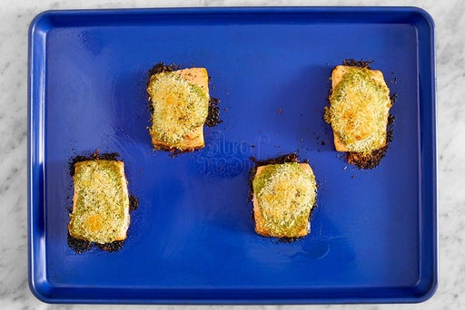 Roast the fish & serve your dish