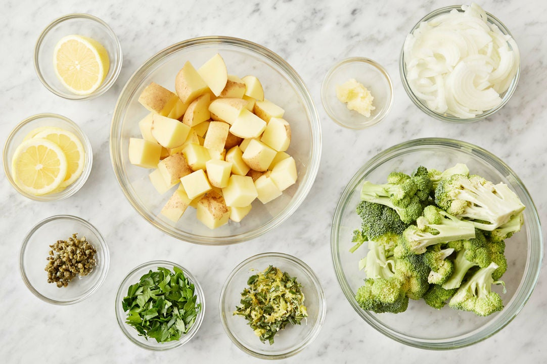 Prepare the ingredients & make the gremolata:
