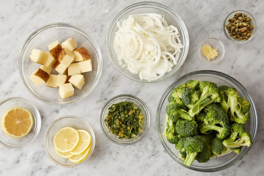 Prepare the ingredients & make the gremolata:
