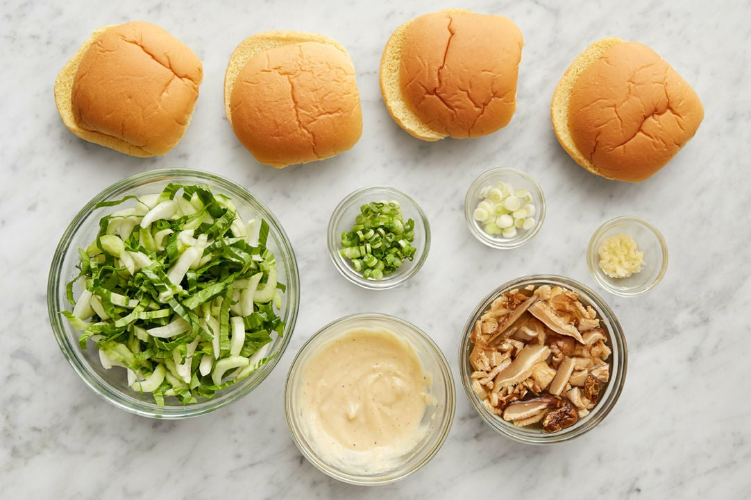 Prepare the remaining ingredients & make the miso mayonnaise: