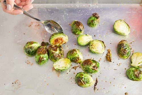 Roast & dress the brussels sprouts