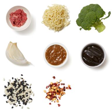 Cumin-Sichuan Peppercorn Beef with Ramen Noodles & Broccoli